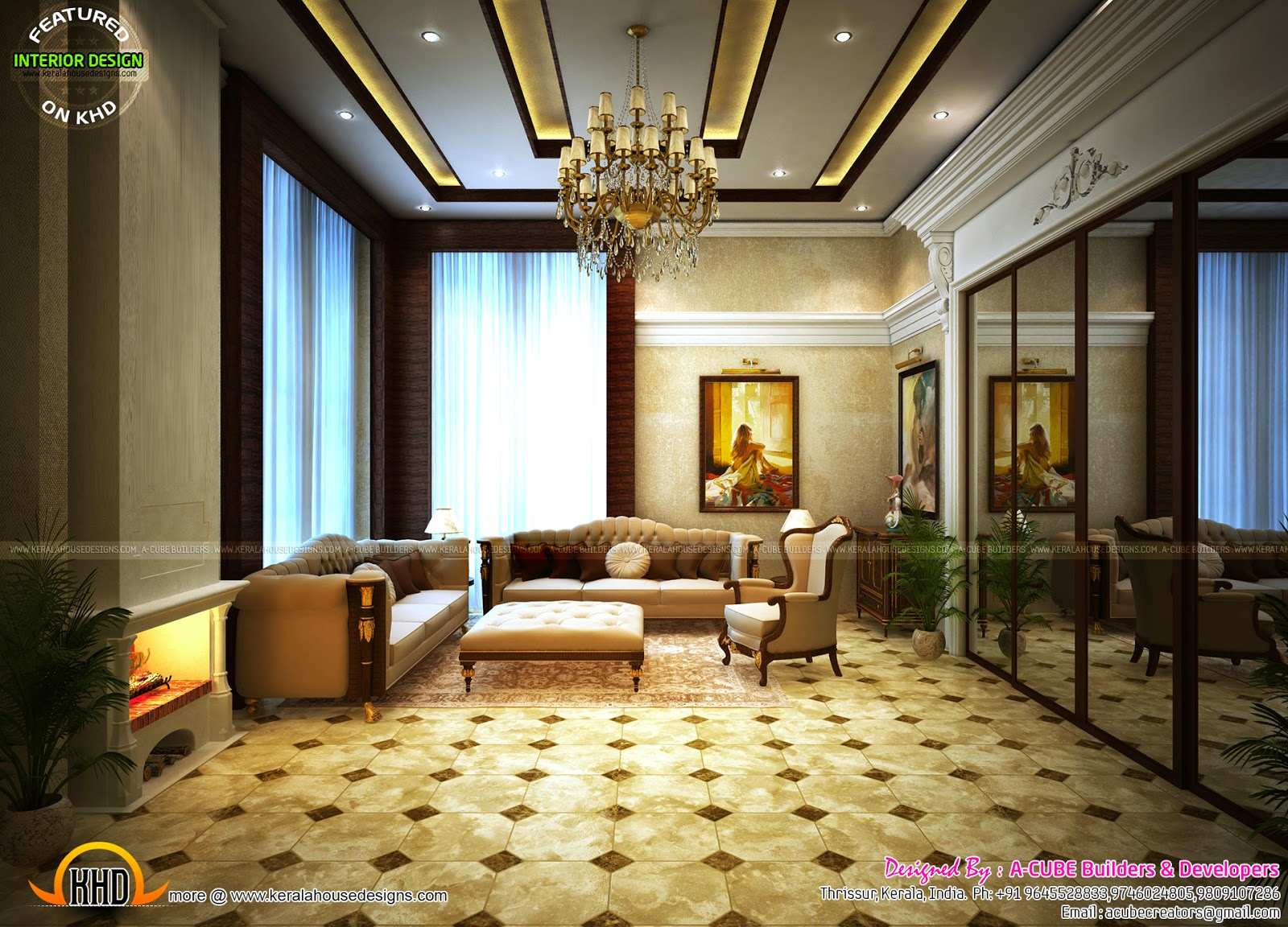 Homes Interior Designs Thrissur Interior Design Kerala Home Design And Floor Plans