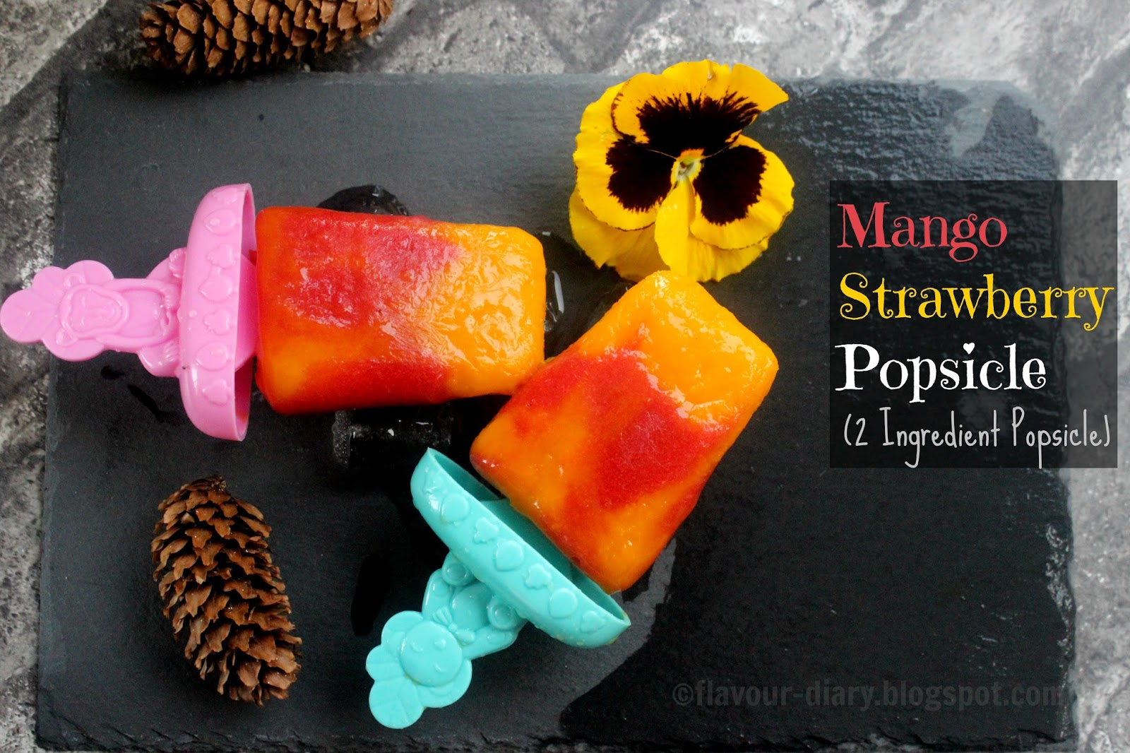 mango strawberry popsicle  recipe