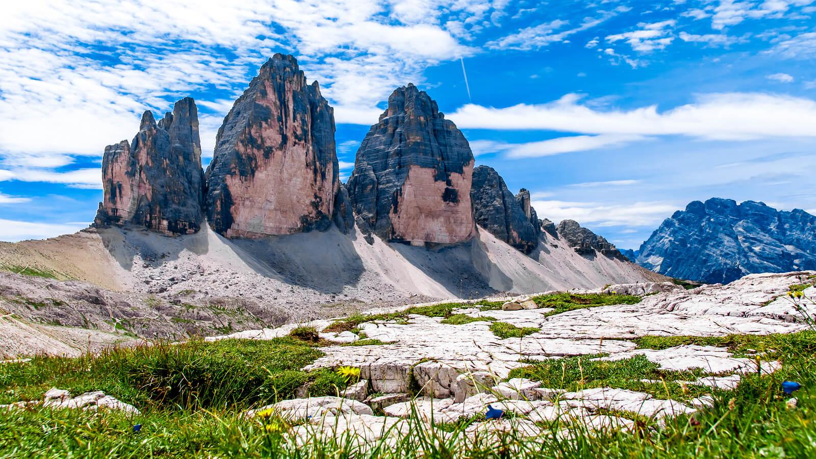 Тре Чиме ди Лаваредо, доломитовые альпы, Италия