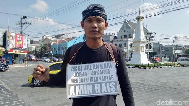 Pemuda Ini Gantikan Nadzar Amien Rais Jalan Kaki Jojga - Jakarta Jika Jokowi Terpilih Sebagai Presiden