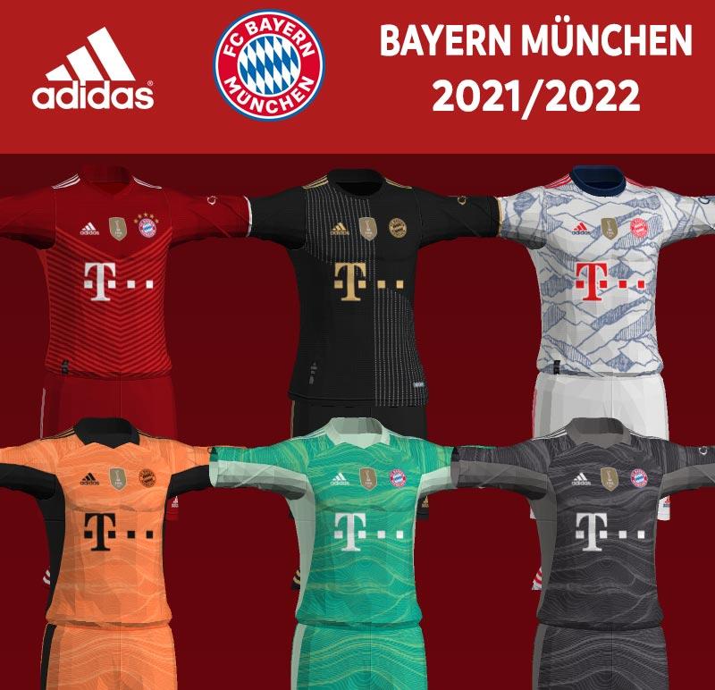 NEW Bayern Munchen 2021-2022 Kits For PES 2013