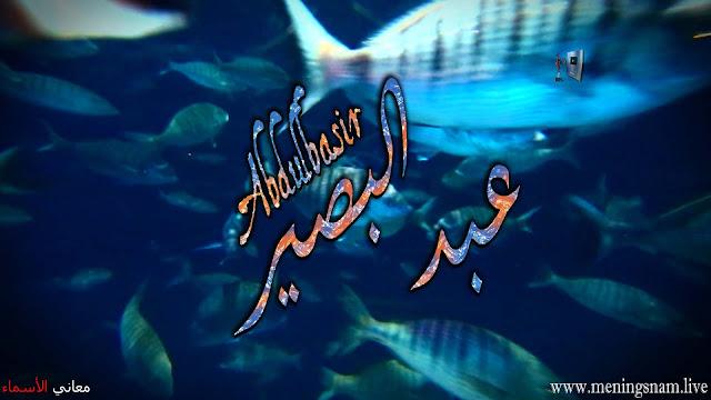 معنى اسم عبد البصير وصفات حامل هذا الاسم Abdulbasir