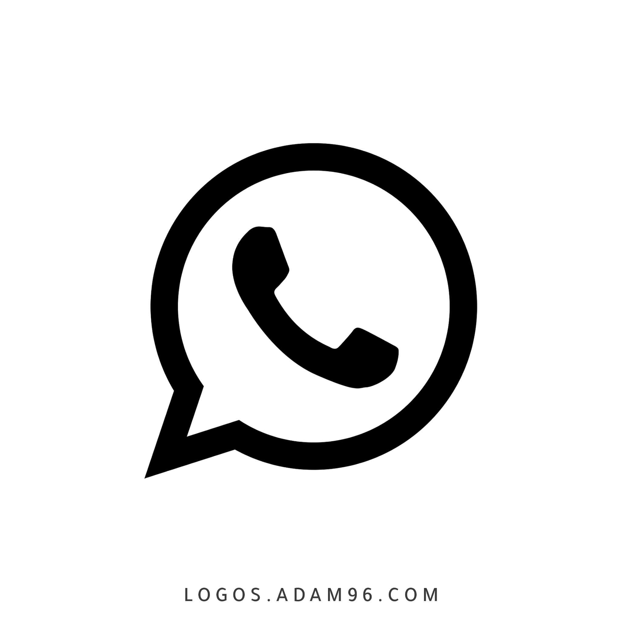 تحميل شعار واتساب اسود شفاف Logo Whatsapp Black