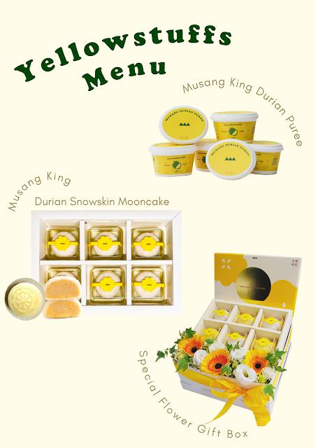 Mooncake Halal Musang King Durian Snowskin Mooncake dari Yellowstuffs