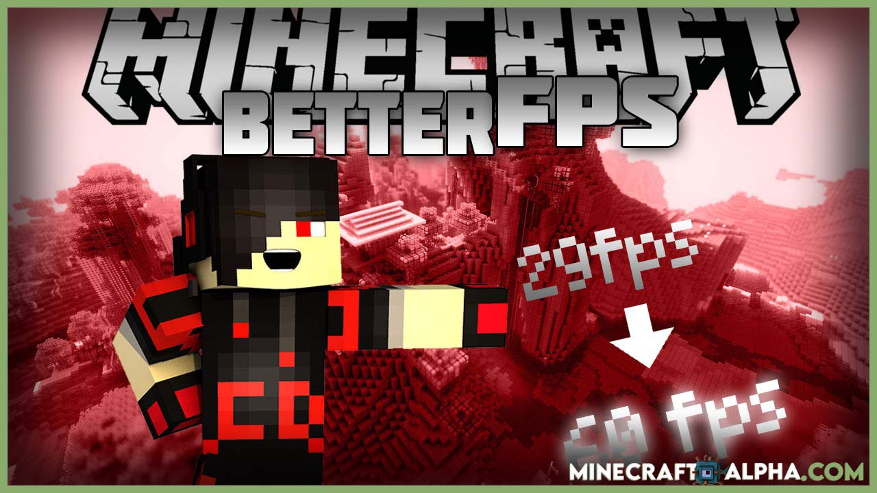 Minecraft BetterFPS Mod for Minecraft 1.17.1/1.17