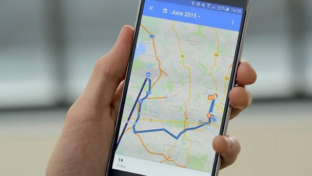 google maps timeline 2