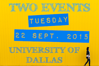 Dallas/Fort Worth Catholic Writers Group meets 09/22/15 at the University of Dallas