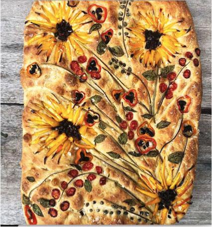Focaccia Bread Art