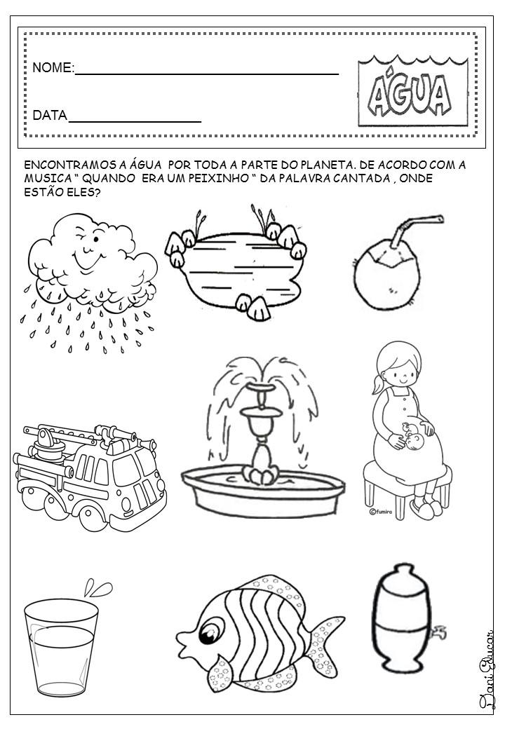 Fabuloso Atividades da tia: Atividades água educação infantil VA34
