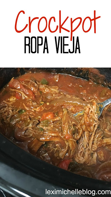 Crock pot Ropa Vieja is a Cuban dish that is super easy & macro friendly. We served ours nacho style! Macro count included (iifym, diet food)