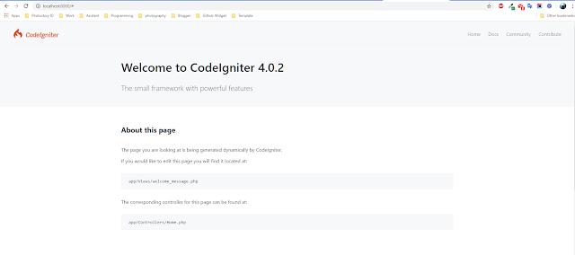 Cara mudah melakukan instalasi Codeigniter 4 lewat composer