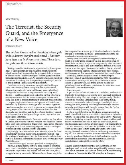 The Terrorist, the Security Guard and the Emergence of a New Voice