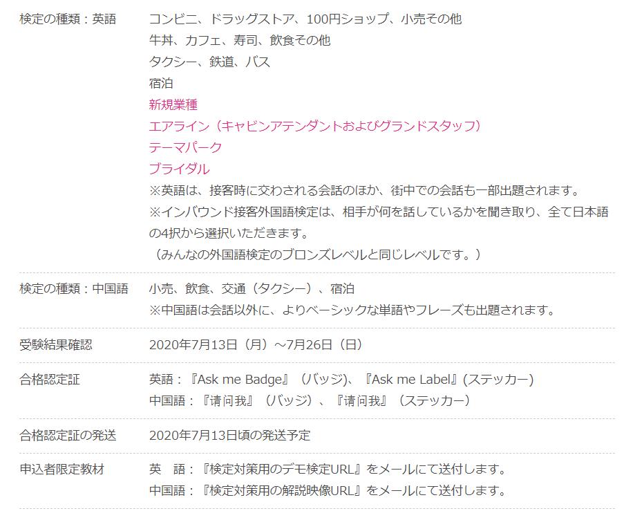 インバウンド接客外國語検定を受験することにしました