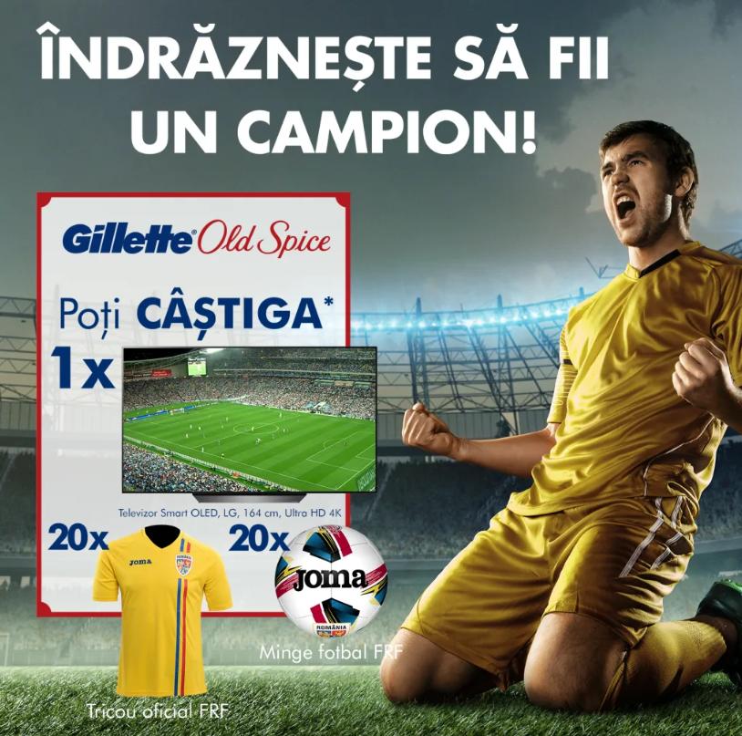 Concurs Gillette si Old Spice - Castiga 1 Smart TV OLED LG, 164 cm - castiga.net