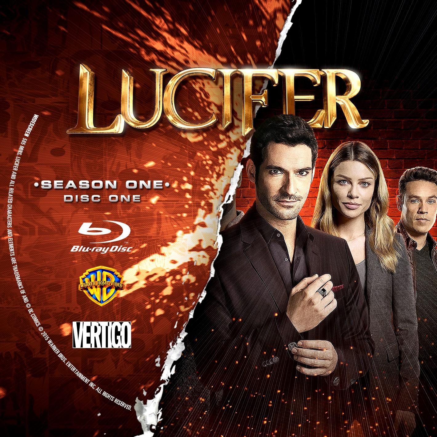 Lucifer Season 1 Disc 1-2 Bluray Label