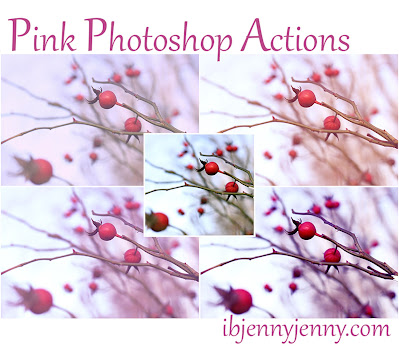 FREE PINK PHOTOSHOP ACTIONS