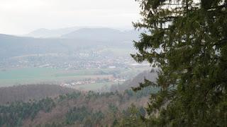Ausblick aus 400 Meter Höhe.
