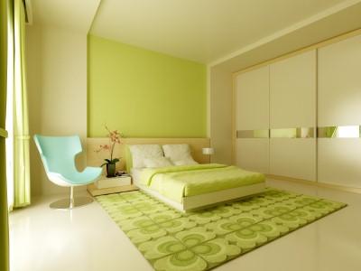 warna cat kamar tidur hijau toska 4
