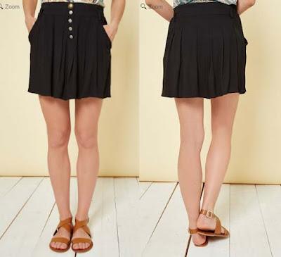 falda color negro en oferta