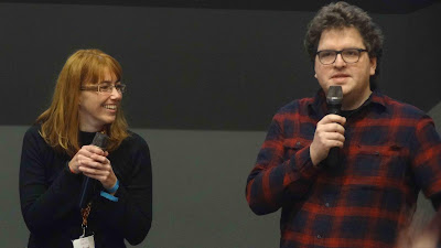Le scénariste Matteo Ferrazzi et la dessinatrice Arianna Kotopopi de la webtoonn Factory