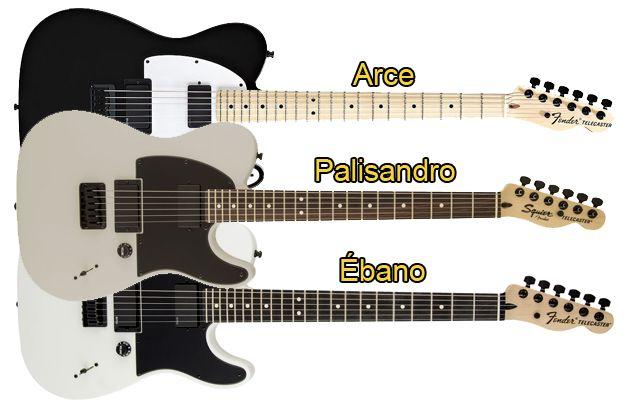Diferencias entre los Diapasones de Arce, Palisandro, y Ébano (Guitarra)