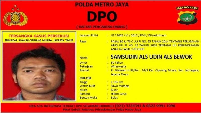 Udian Alias Bewok jadi DPO polisi