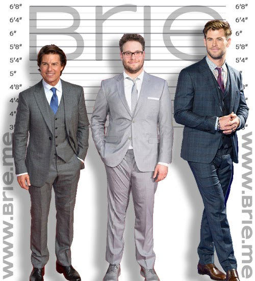 Seth Rogen height comparison with Tom Cruise and Jason Momoa