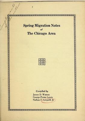 Spring Migration Notes.