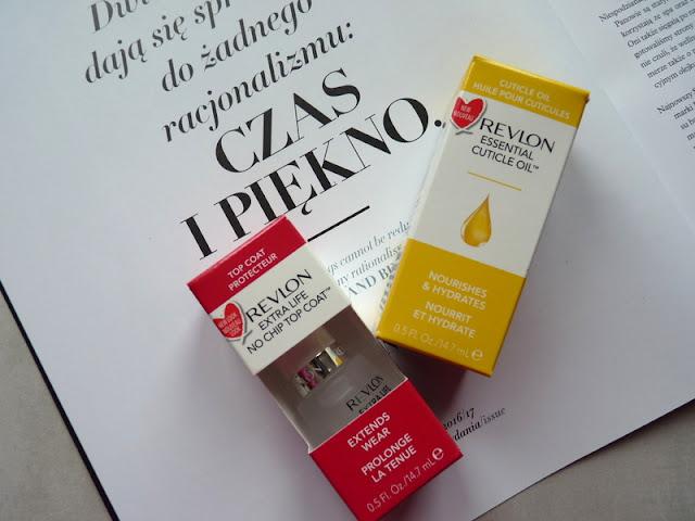 Revlon No Chip Top Coat i Revlon Essential Cuticle Oil - czyli zakochaj się       na nowo w swoich paznokciach