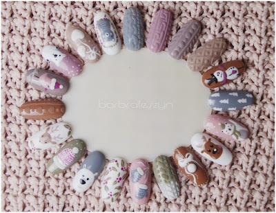 Zimowe wzory na paznokcie