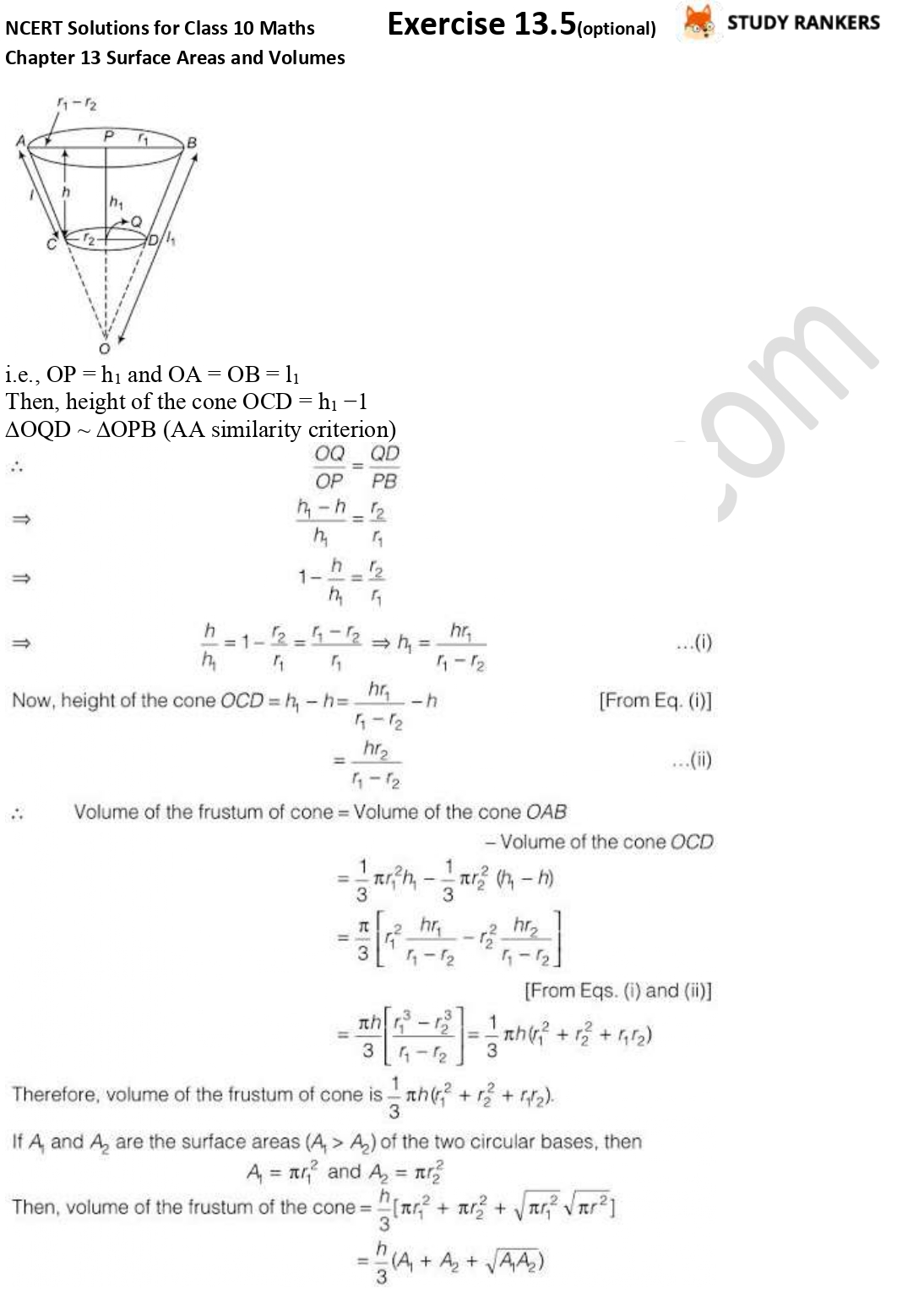 NCERT Solutions for Class 10 Maths Chapter 13 Surface Areas and Volumes Exercise 13.5 Part 7
