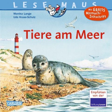 """Das Bücherboot auf Küstenkidsunterwegs hat diesmal ganz viele Kinderbücher, Jugendbücher und sogar ein paar Bücher für Erwachsene an Bord, die sich allesamt um das Thema """"Ferien und Urlaub am Meer"""" drehen! Ein schönes Kinderbuch ist z.B. """"Tiere am Meer"""" aus der Lesemaus-Reihe."""