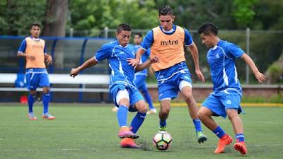 Entrenamiento de La Selecta futbol El Salvador