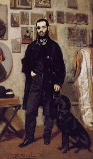 Giovanni Boldini's portrait of  Giuseppe Abbati in 1865