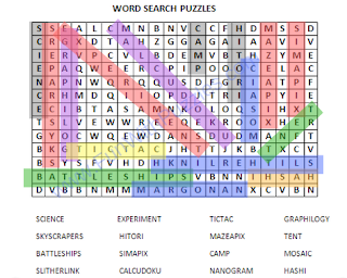Word Search Puzzle-1 Solution
