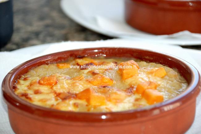 Sopa francesa de cebolla gratinada Aneto