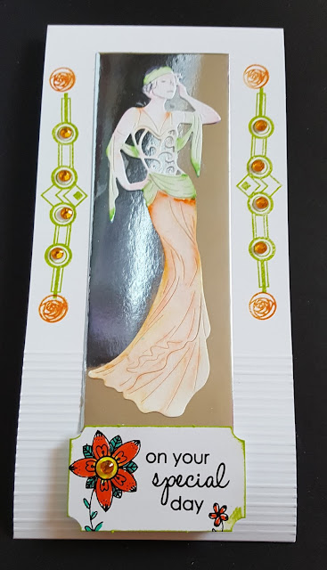 On your special day - Art Deco lady DL card