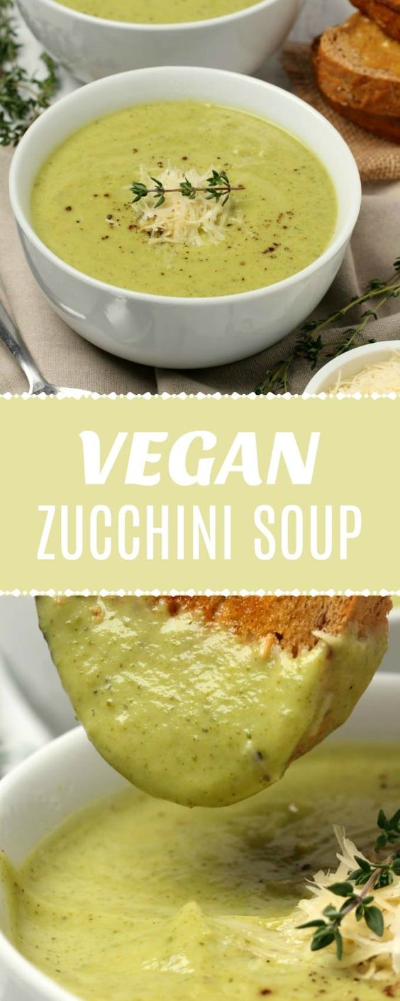 Ultra creamy vegan zucchini soup. This simple 9-ingredient recipe is ready in 30 minutes and crazy delicious. It's also gluten-free.