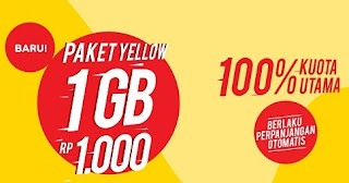 Cara cek sisa kuota Paket internet Yellow Indosat