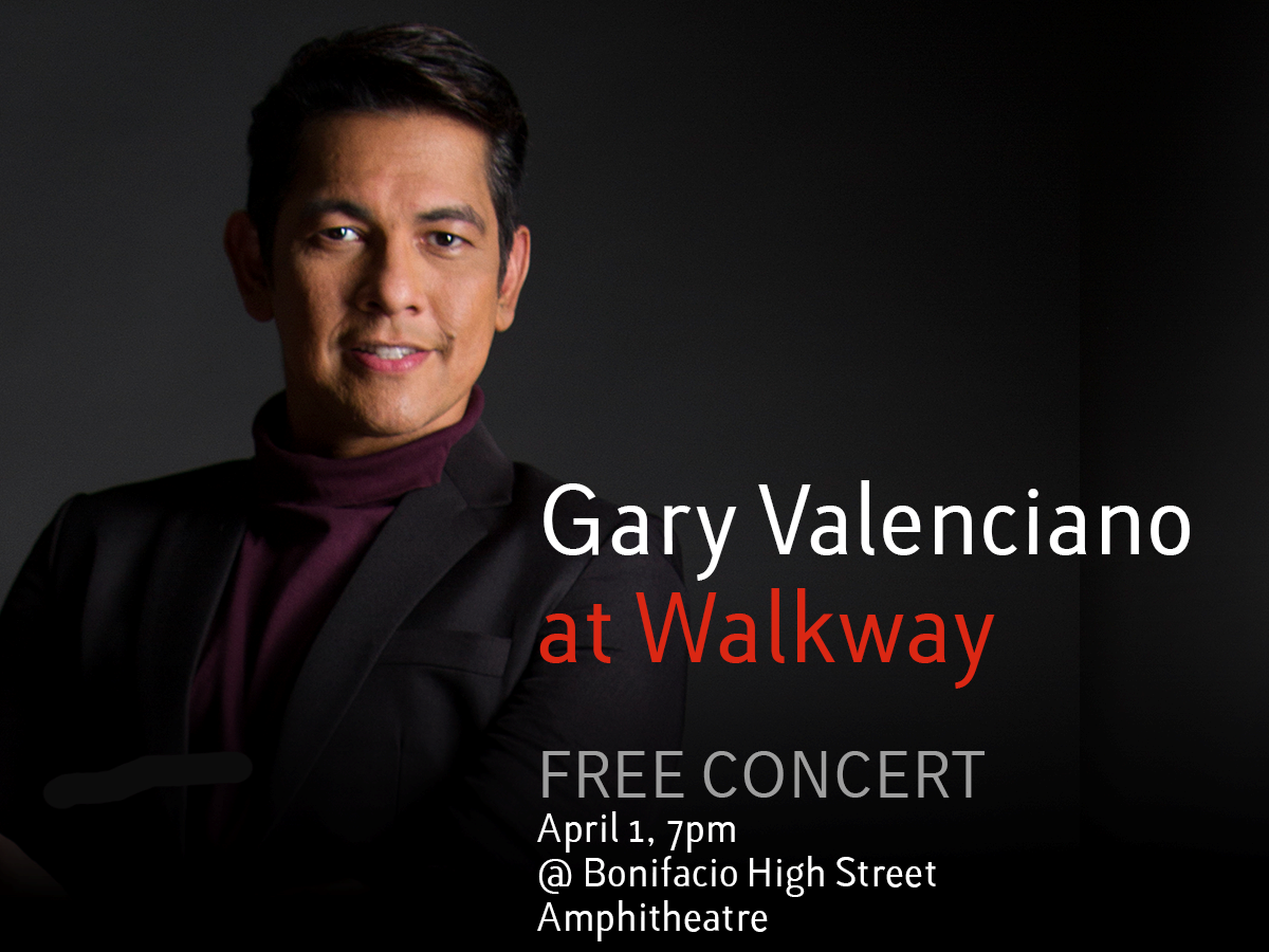 Celebrate Easter with Gary Valenciano at Bonifacio High Street