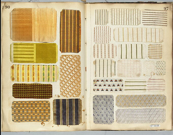 Antique Vintage Fabric Sample Book ...