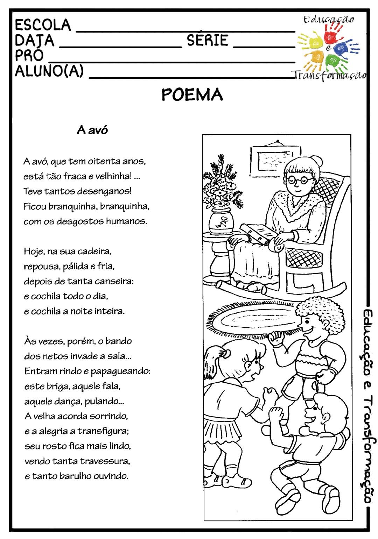 Blog Educação E Transformação Poema A Avó Olavo Bilac