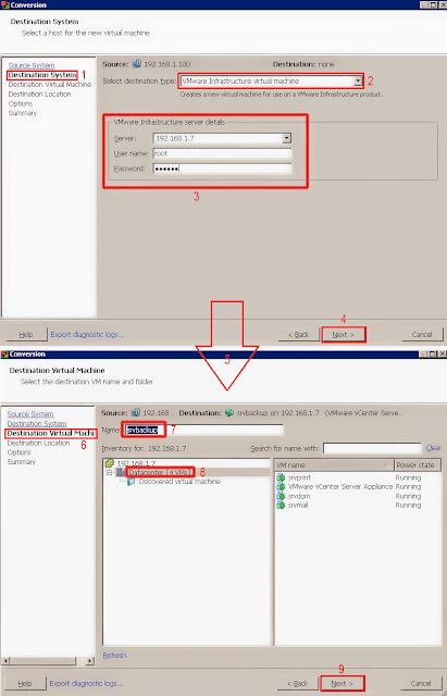 VMware vCenter Converter Standalone: Destination Virtual Machine