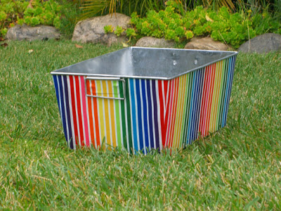 rainbow stripe tub