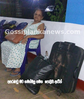 Mother of son of Minister's Secretary and also of millionaire garment businessman left stranded on the road on Poya Day
