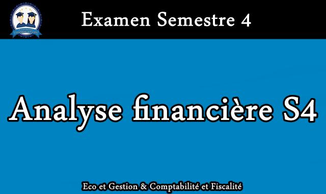 Examen Analyse financière S4