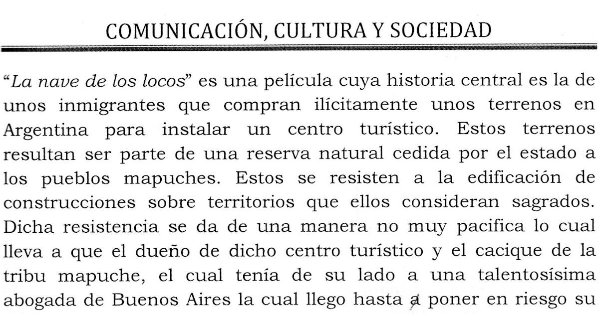 Lectoescritura Pelicula La Nave De Los Locos