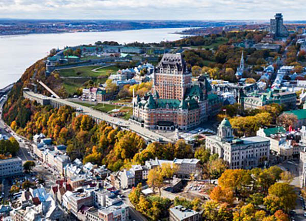 Quebec City, the capital of the Quebec province.