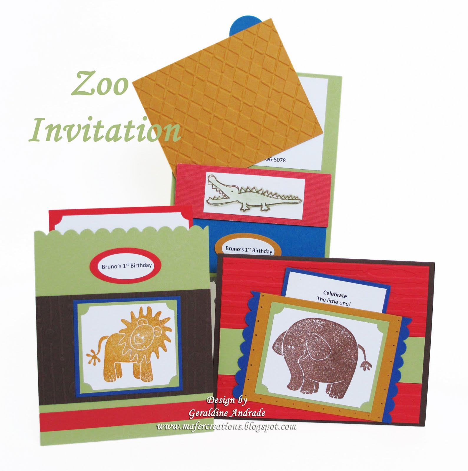 Mafer S Creations Zoo Invitation