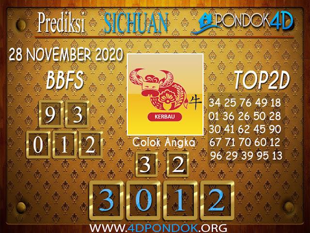 Prediksi Togel SICHUAN PONDOK4D 28 NOVEMBER 2020